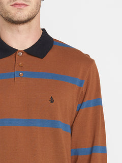 Bracer Long Sleeve Polo - Bison (A0341904_BSN) [1]