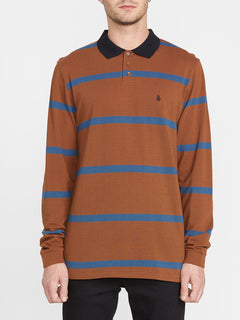 Bracer Long Sleeve Polo - Bison (A0341904_BSN) [F]
