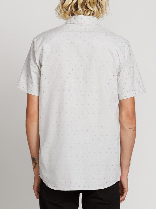 Mark Mix Short Sleeve Shirt In White Flash, Back View