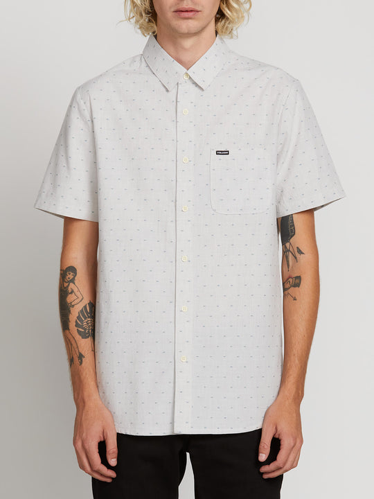 Mark Mix Short Sleeve Shirt In White Flash, Front View