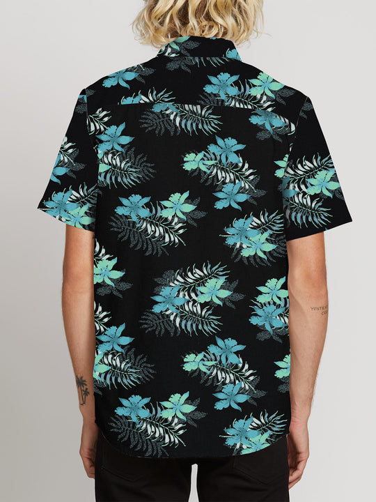 Wave Fayer Short Sleeve Shirt In Black, Back View