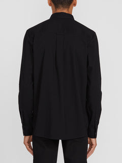 Oxford Stretch Long Sleeve - New Black (A0511801_NBK) [B]