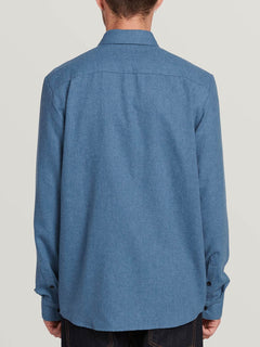 Caden Solid Long Sleeve - Blue Rinse