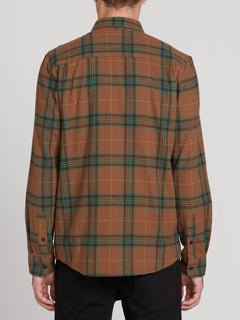Caden Plaid Long Sleeve - Mud (A0531906_MUD) [B]