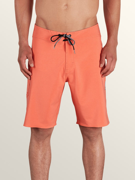 Lido Solid Mod Boardshorts - Twisted Orange