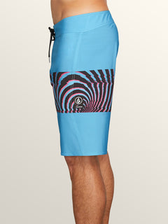 Macaw Mod Boardshorts In Neon Blue, Alternate View