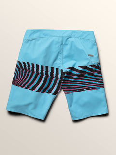 Macaw Mod Boardshorts In Neon Blue, Fourth Alternate View