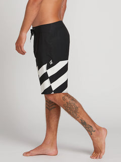 Stone Plus Mod Boardshorts In Black White, Alternate View