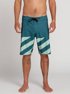 Stone Plus Mod Boardshorts In Sea Navy, Front View