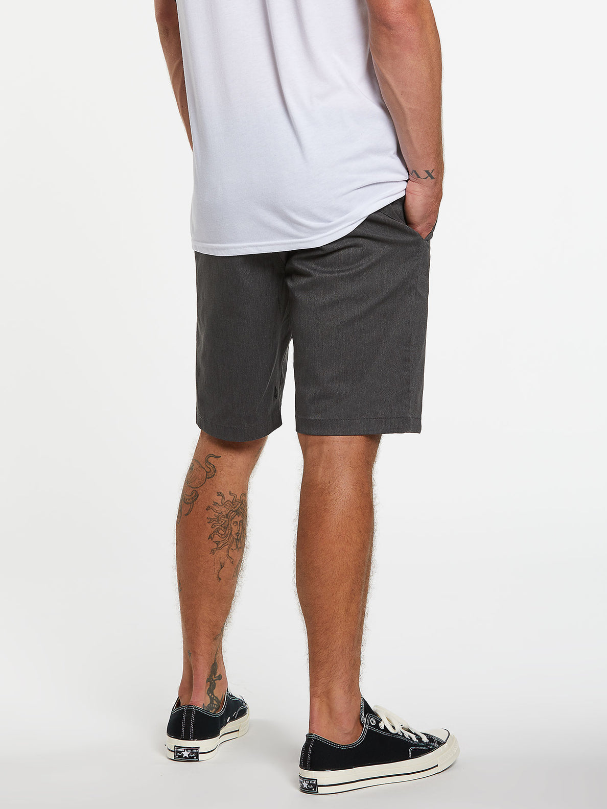 Frickin Modern Stretch Short - Charcoal Heather (A0911601_CHHK) [2]