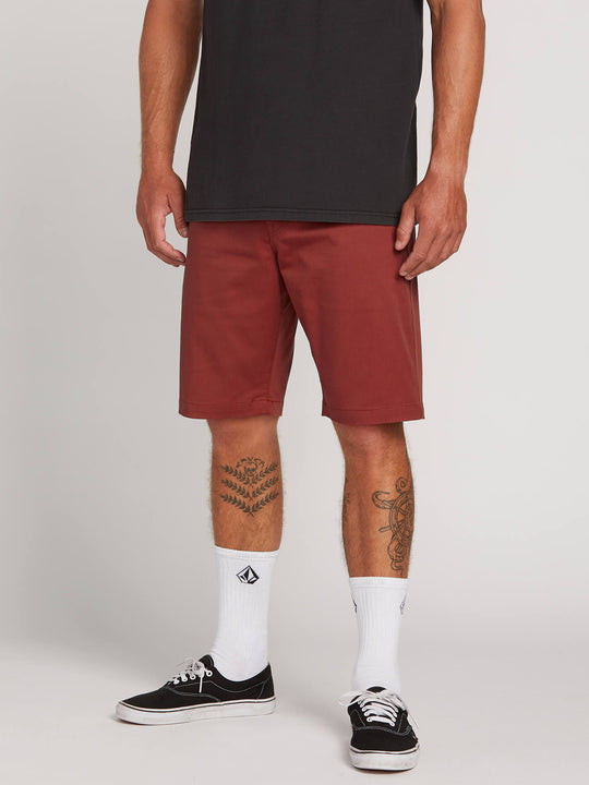 Frickin Modern Stretch Shorts In Cowhide, Front View