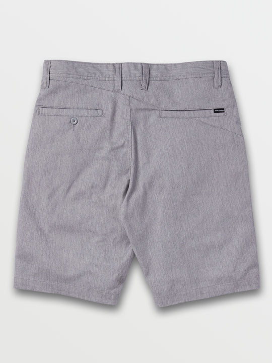 Frickin Modern Stretch Shorts In Grey, Back View