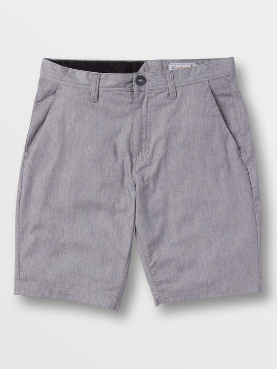 Frickin Modern Stretch Shorts In Grey, Front View