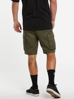 Bevel Cargo Shorts - Military (A0931902_MIL) [2]