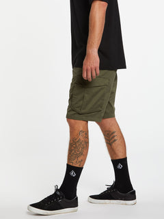 Bevel Cargo Shorts - Military (A0931902_MIL) [3]