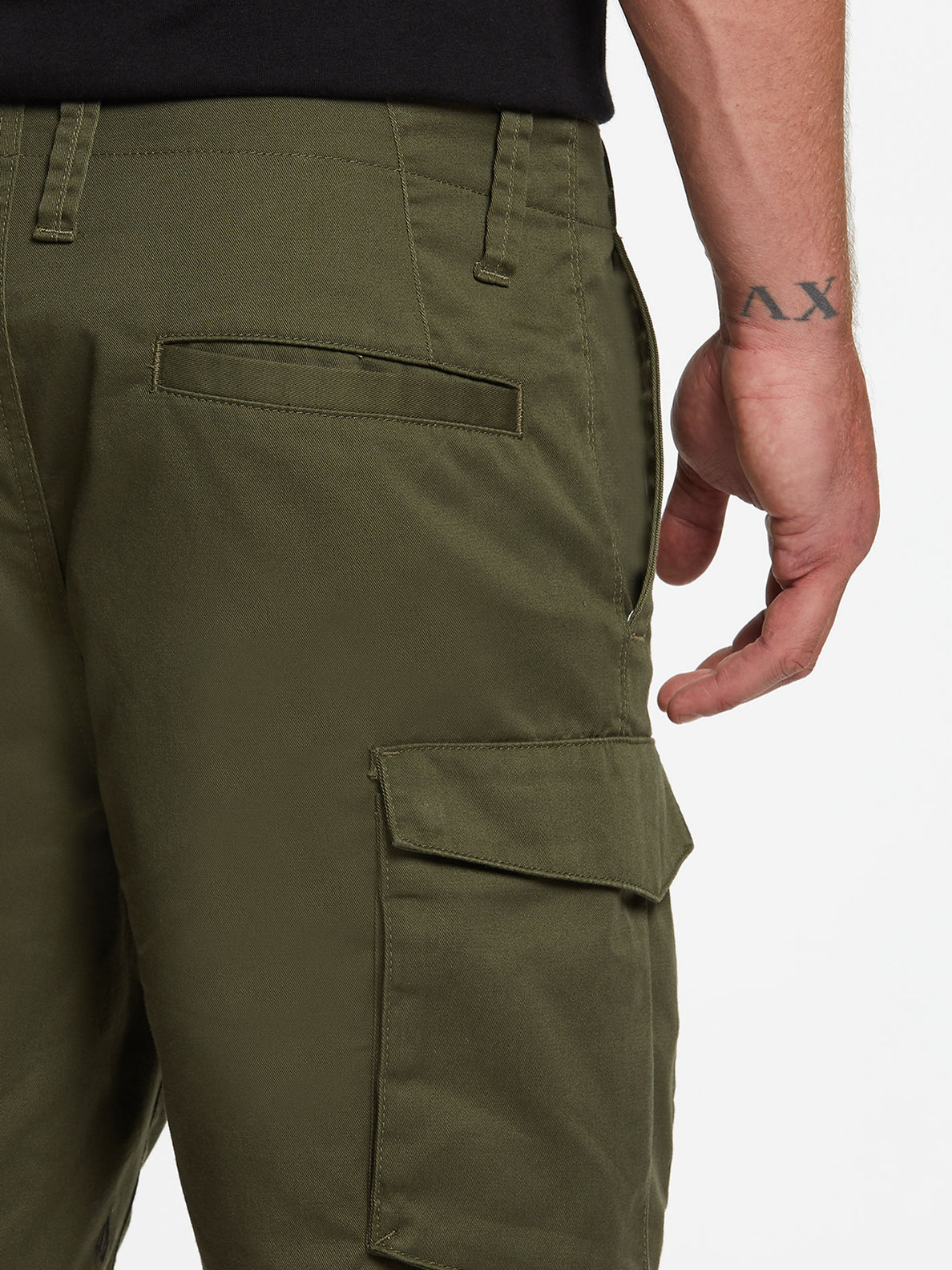 Bevel Cargo Shorts - Military (A0931902_MIL) [4]