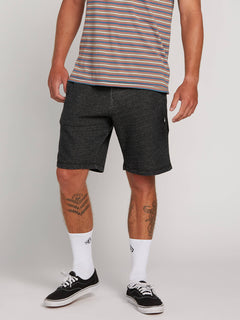 Chiller Fleece Short In Black, Front View