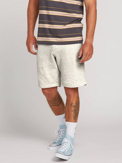 Chiller Fleece Short In Grey, Front View