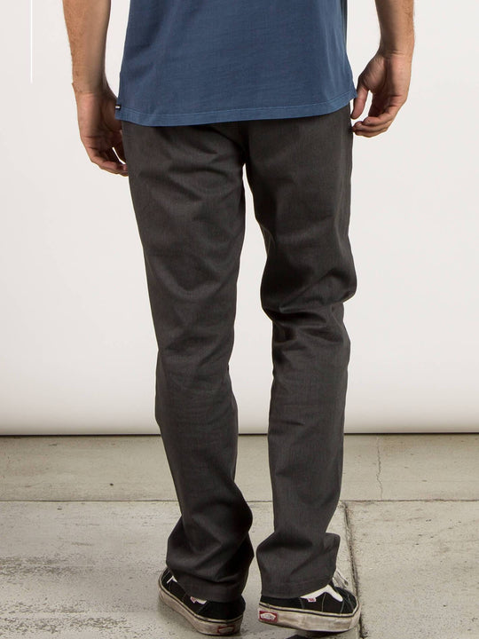 Frickin Modern Stretch Chino Pants In Charcoal Heather, Back View