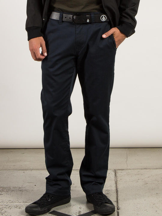 Frickin Modern Stretch Chino Pants In Dark Navy, Front View