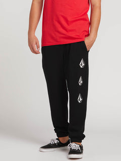 Deadly Stones Pants In Black, Front View
