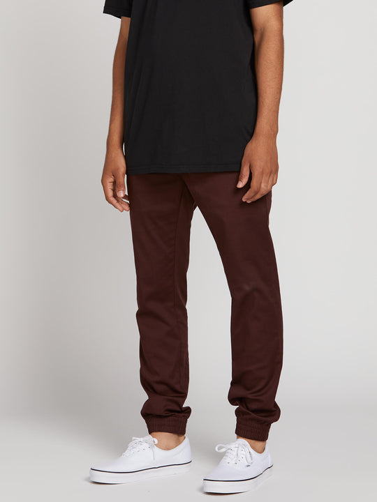 Frickin Slim Jogger Pants In Plum Heather, Front View