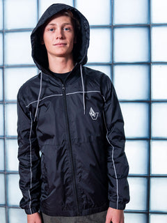 Ermont Windbreaker Jacket - Black