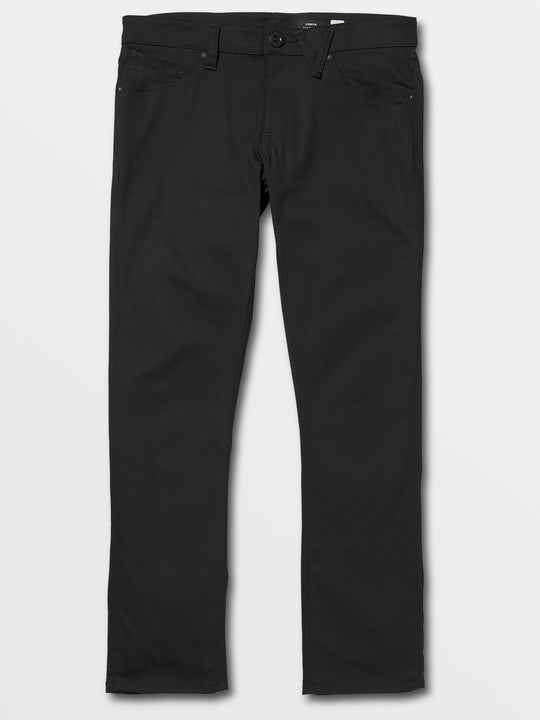 Vorta Slim Fit Jeans In Black On Black, Front View