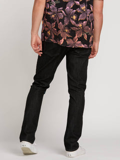 Vorta Slim Fit Jeans In Black Rinser, Back View