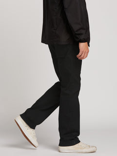 Kinkade Regular Fit Jeans In Black On Black, Alternate View