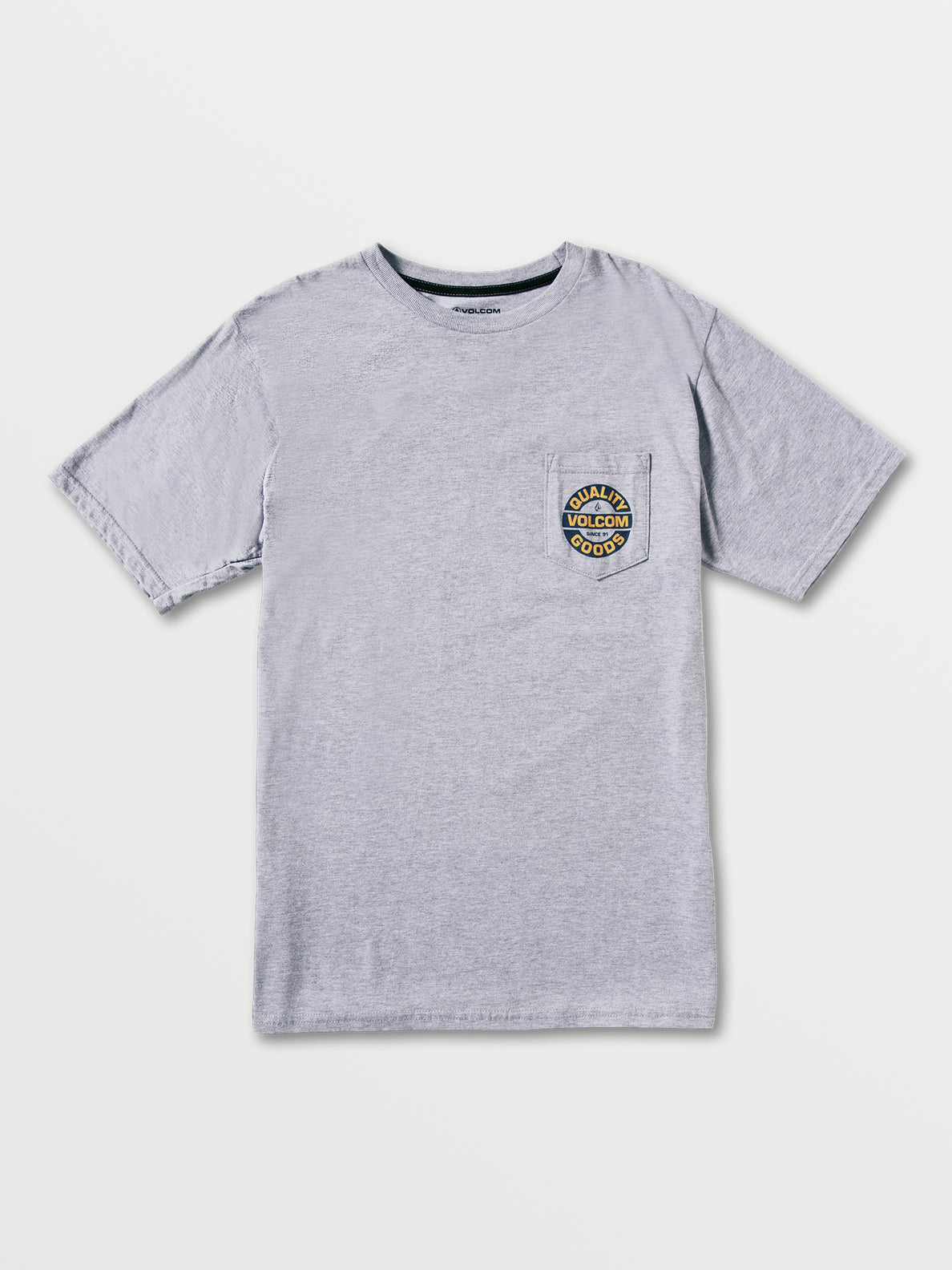 Relief Short Sleeve Pocket Tee - Heather Grey (A3522001_HGR) [F]