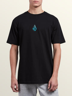 Dimensional Short Sleeve Tee In Black, Front View