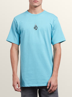 Dimensional Short Sleeve Tee In Blue Bird, Front View