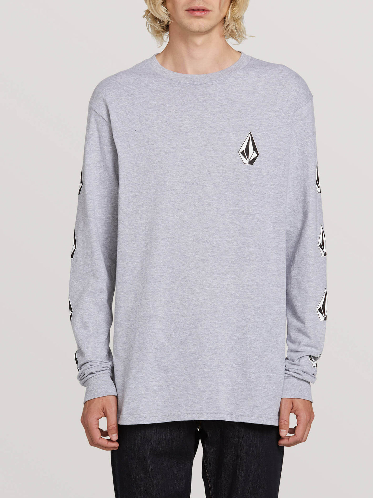 Deadly Stones Long Sleeve Tee - Grey (A3631702_GRY) [F]