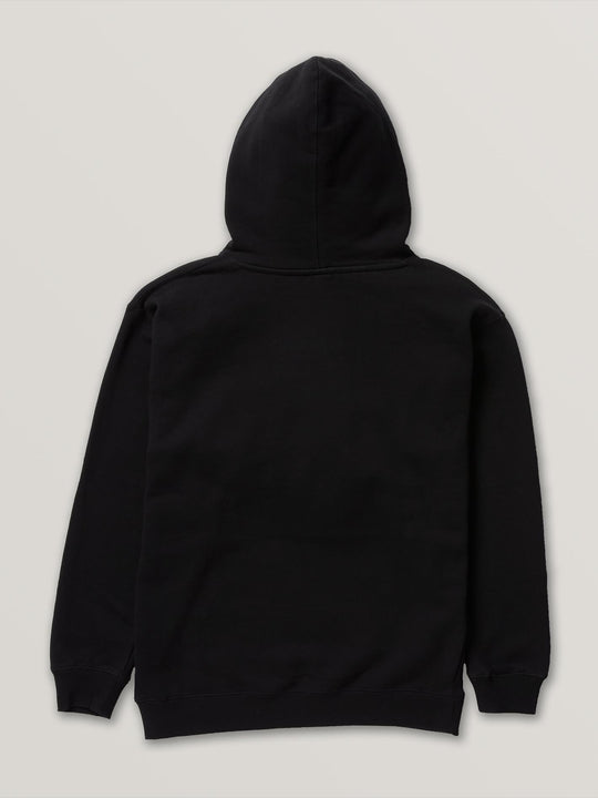 Stoned Pullover Fleece In Black, Back View
