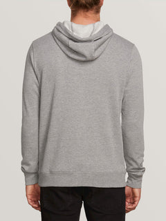 Brasstacks Pullover Fleece In Grey Marle, Back View