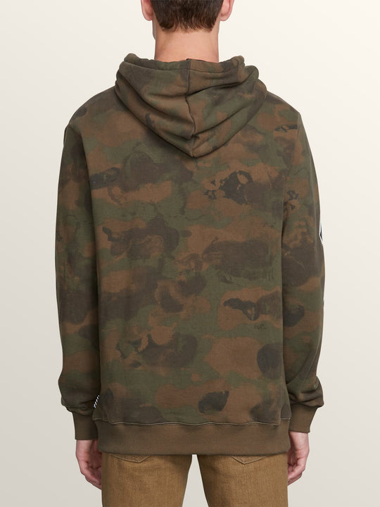 Deadly Stones Pullover Hoodie In Camouflage, Back View