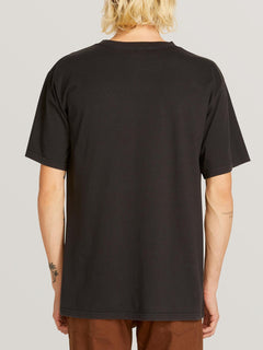Check Wreck Short Sleeve Tee In Black, Back View