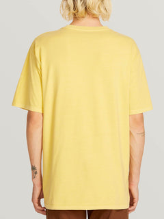 Check Wreck Short Sleeve Tee In Lime, Back View