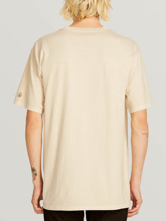 Custom Basic Solid Short Sleeve Tee In White Flash, Back View