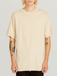 Custom Basic Solid Short Sleeve Tee In White Flash, Front View