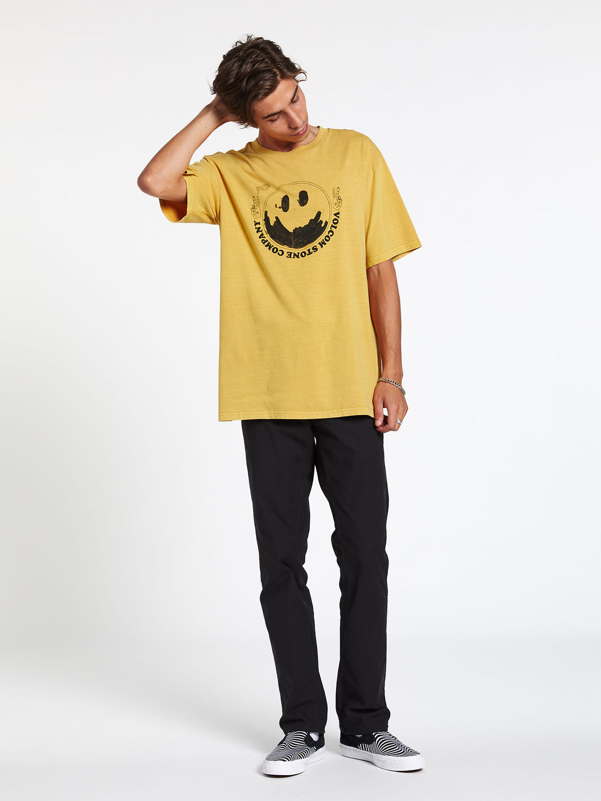 FAKE SMILE S/S TEE (A4312003_GLD) [02]