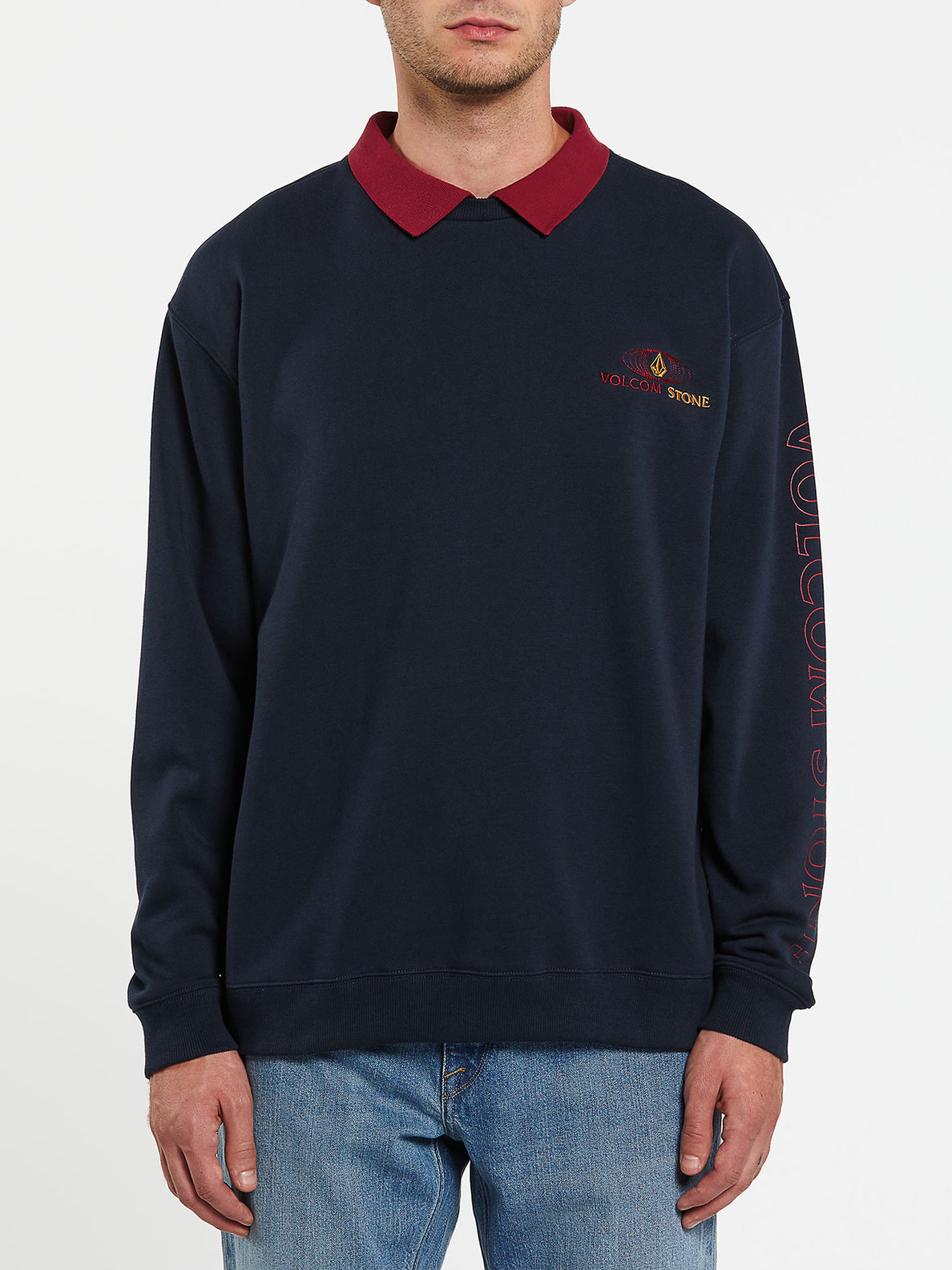 VOLOMETRICAL POLO - NAVY (A4632000_NVY) [F]