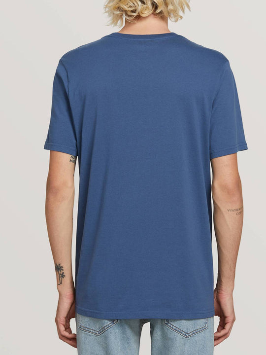 Spray Stone Short Sleeve Tee In Indigo, Back View