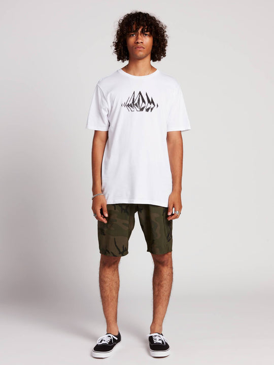 Stone Sounds Short Sleeve Tee In White, Alternate View