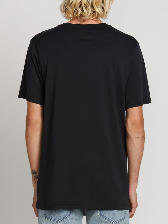 Sub Bar Logo Short Sleeve Tee In Black, Back View