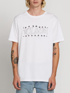 Sub Bar Logo Short Sleeve Tee In White, Front View