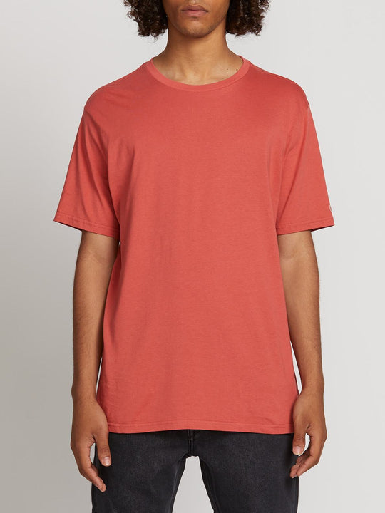 Solid Short Sleeve Tee - Mineral Red