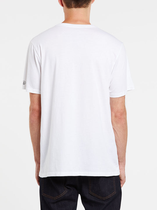 Solid Short Sleeve Tee - White (A5031807_WHT) [B]