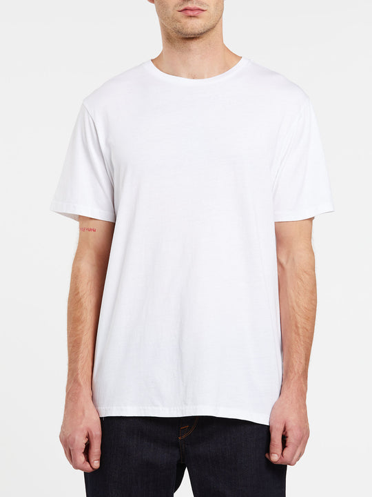 Solid Short Sleeve Tee - White (A5031807_WHT) [F]